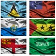 Fabric world flags collection 32 — Stock Photo