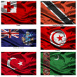 Fabric world flags collection 39 — Foto de Stock
