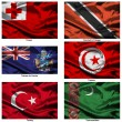 Fabric world flags collection 39 — Stock Photo