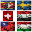Fabric world flags collection 37 — Stockfoto
