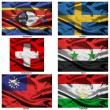 Stock Photo: Fabric world flags collection 37