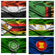 Fabric world flags collection 43 — Stock Photo #2252151