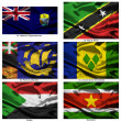 Fabric world flags collection 36 — Stock Photo