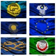 Fabric world flags collection 44 — Stockfoto
