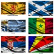 Fabric world flags collection 33 - Stock Photo