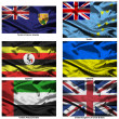 Fabric world flags collection 40 — Stock Photo