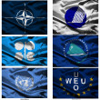 Fabric world flags collection 45 — Stockfoto