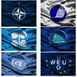 Fabric world flags collection 45 — Stock Photo