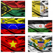 Stock Photo: Fabric world flags collection 42