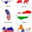 World flag map stylized sketches 14 — Foto de Stock
