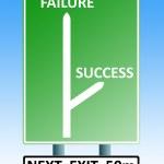 Success failure roadsign — Stock Photo #2252420