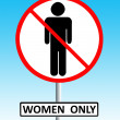 Women only sign — Stock Photo #2252447
