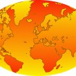 World map 12 — Stock Photo