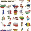 Foto de Stock  : EU countries metal pin badges