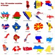 Non - EU countries flag maps — Stock Photo #2252531