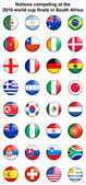 2010 world cup button badges — Stock Photo