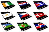 世界国旗图书收藏 08 — 图库照片