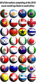2010 world cup football flags — Stock Photo
