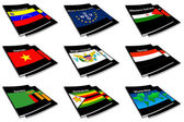 World flag book collection 31 — Stock Photo