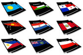 World flag book collection 22 — Stock Photo
