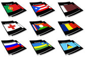 World flag book collection 23 — Stock Photo