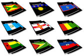 World flag book collection 12 — Stock Photo