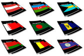 World flag book collection 03 — Stock Photo
