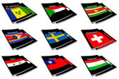 World flag book collection 27 — Stock Photo