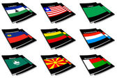 World flag book collection 16 — Stock Photo