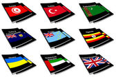 World flag book collection 29 — Stock Photo