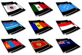 World flag book collection 18 — Stock Photo