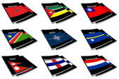 World flag book collection 19 — Stock Photo