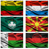 Fabric world flags collection 22 — Stock Photo