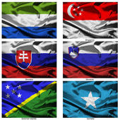 Fabric world flags collection 34 — Stock Photo
