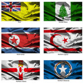 Fabric world flags collection 28 — Stock Photo