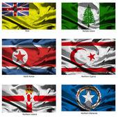 Kumaş dünya bayrakları collection 28 — Stok fotoğraf