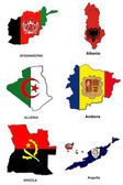 World flag map stylized sketches 01 — Stock Photo