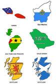 World flag map stylized sketches 28 — Stock Photo