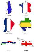 World flag map stylized sketches 11 — Stock Photo
