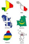 World flag map stylized sketches 20 — Stock Photo