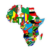 Continent of Africa — Stock Photo