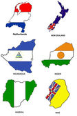 World flag map stylized sketches 23 — Stock Photo