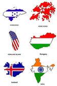 World flag map stylized sketches 14 — Stock Photo