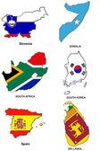 World flag map stylized sketches 30 — Stock Photo