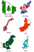 World flag map stylized sketches 24 — Stock Photo