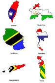 World flag map stylized sketches 32 — Stock Photo