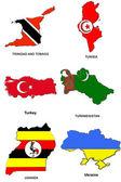 World flag map stylized sketches 33 — Stock Photo