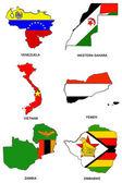 World flag map stylized sketches 35 — Stock Photo