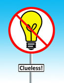 Clueless road sign — Stock Photo