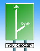 Life death roadsign — Stock Photo